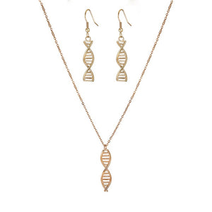 DNA Double Helix Necklace & Earrings Set - Gifted Guppy