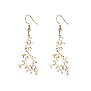 Oxytocin Molecule Earrings - Gifted Guppy