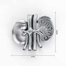 Load image into Gallery viewer, Anatomical Kidney Pin - Gifted Guppy