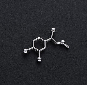 Adrenaline Molecule Lapel Pin - Gifted Guppy