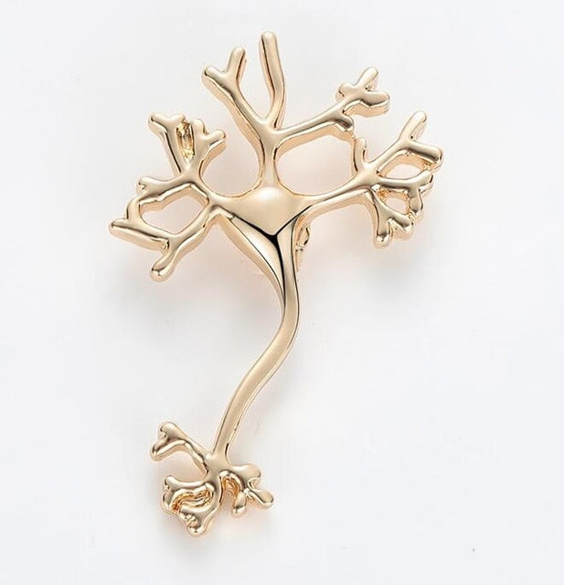 Nerve cell / Neuron Lapel Pin - Gifted Guppy