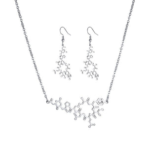 Oxytocin Necklace & Earrings Set - Gifted Guppy
