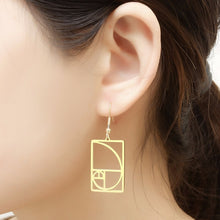 Load image into Gallery viewer, Stainless Steel Fibonacci Earrings - Gifted Guppy