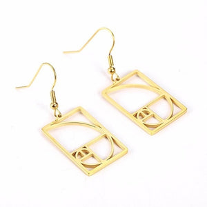 Stainless Steel Fibonacci Earrings - Gifted Guppy
