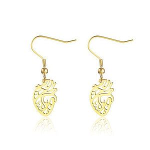 Anatomical Heart Drop Earrings - Gifted Guppy