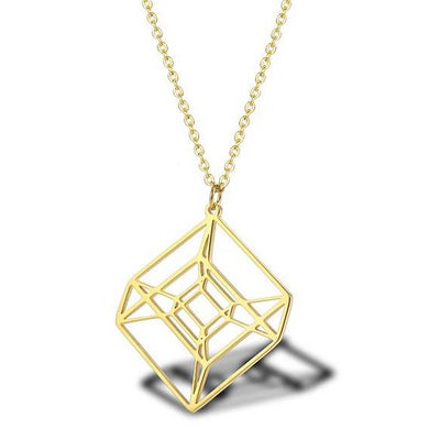 Stainless Steel Hypercube Necklace - Gifted Guppy
