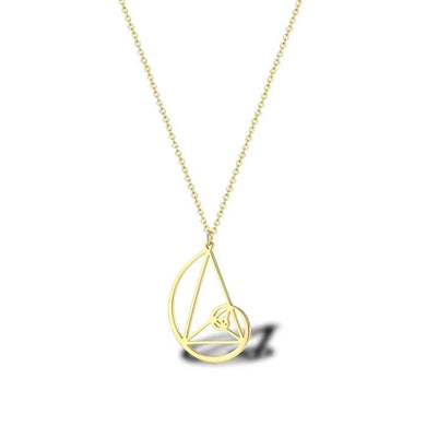 Stainless Steel Fibonacci Sequence Pendant Necklace Wearable Mathematics Jewelry For Men Women - Gifted Guppy