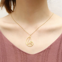 Load image into Gallery viewer, Stainless Steel Fibonacci Sequence Pendant Necklace Wearable Mathematics Jewelry For Men Women - Gifted Guppy