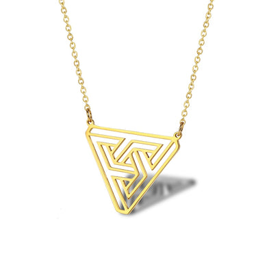 Stainless Steel Penrose Triangle Necklace - Gifted Guppy