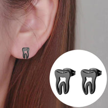 Load image into Gallery viewer, Stainless Steel Tooth Stud Earrings