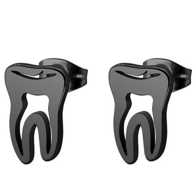Stainless Steel Tooth Stud Earrings