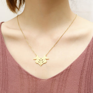 Rorschach Inkblot Test Psychology Necklace - Gifted Guppy