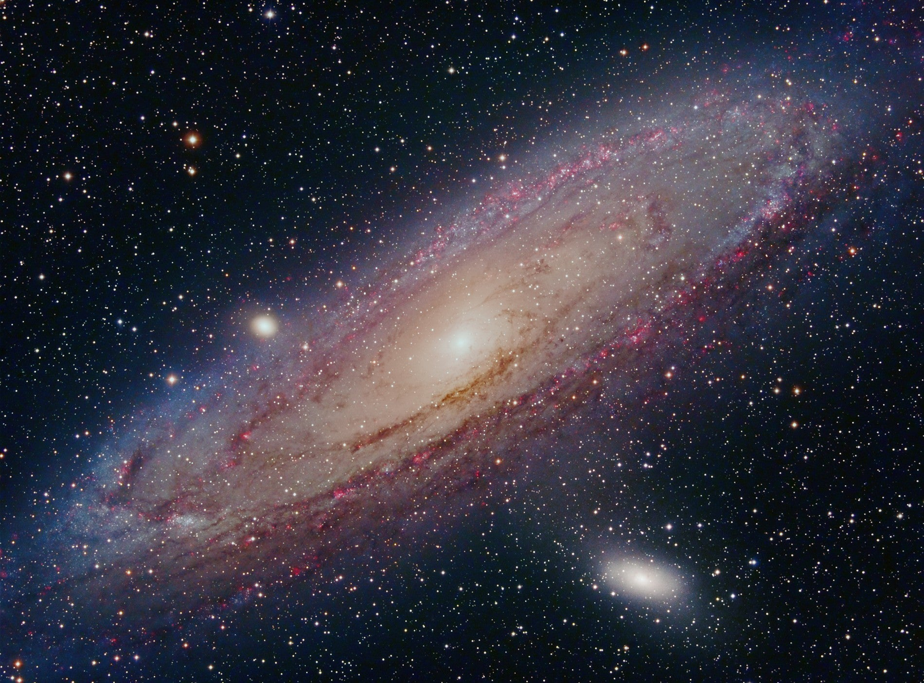 Beautiful image of Andromeda, M31, by Terry Hancock