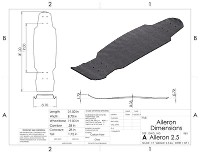 121c Boards- THE AILERON 31""
