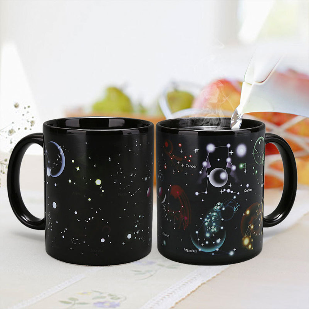 Cosmic Color and Pattern Changing Coffee Mug. Dance of the Planets, Waltz of the Constellations!
