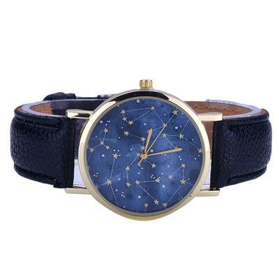 Cosmic Constellations and Time- Space Quartz Watch