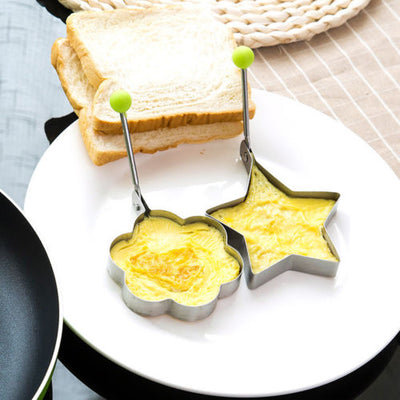 Stellar Pancake moulds. Stainless Steel Star with handle