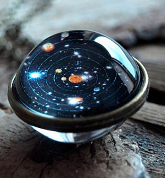 Glass Solar System Necklace