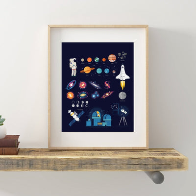 Space Exploration Poster/ Wall Art Canvas