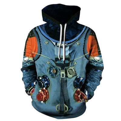 3D Astronaut Space Suit Hoodies