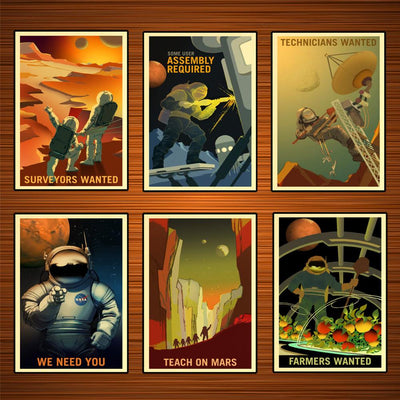 Martian Space Program- Recruiting YOU! Classic Wall Stickers and Canvas Prints