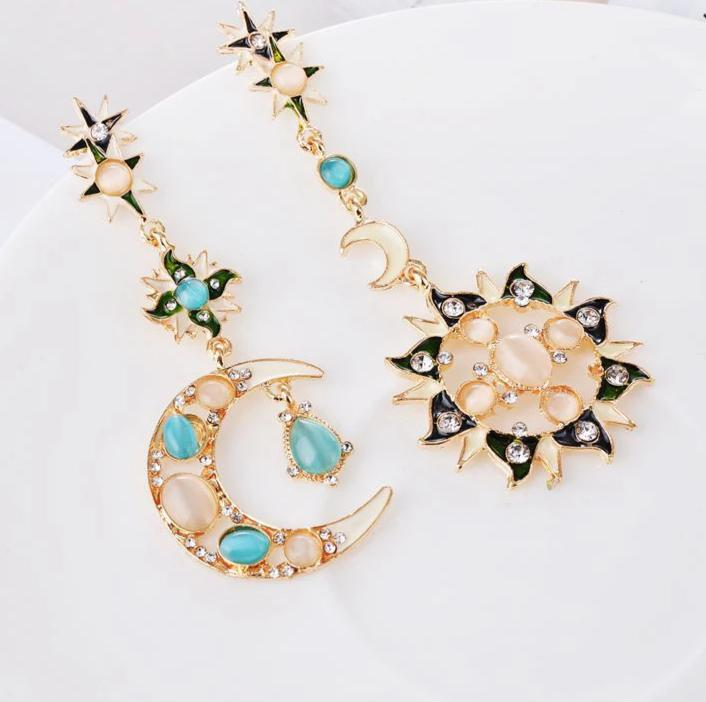 Cosmic Asymmetry at its Best! Dangle Earrings