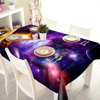 Starry Sky scapes, Galactic Space Scenes- These Table Cloths Dazzle and Inspire!