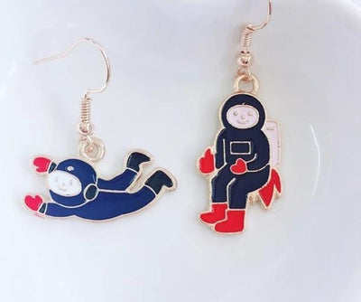 Space Girl Space Girl Earrings Rocket- Planet- Astronaut- Starry Sky