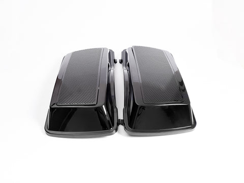 "Hard Speaker Lids 6""x9"" Harley Touring models (vivid black)"