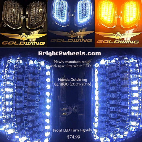 Honda Goldwing LED front turn signals w/ daytime running white LED