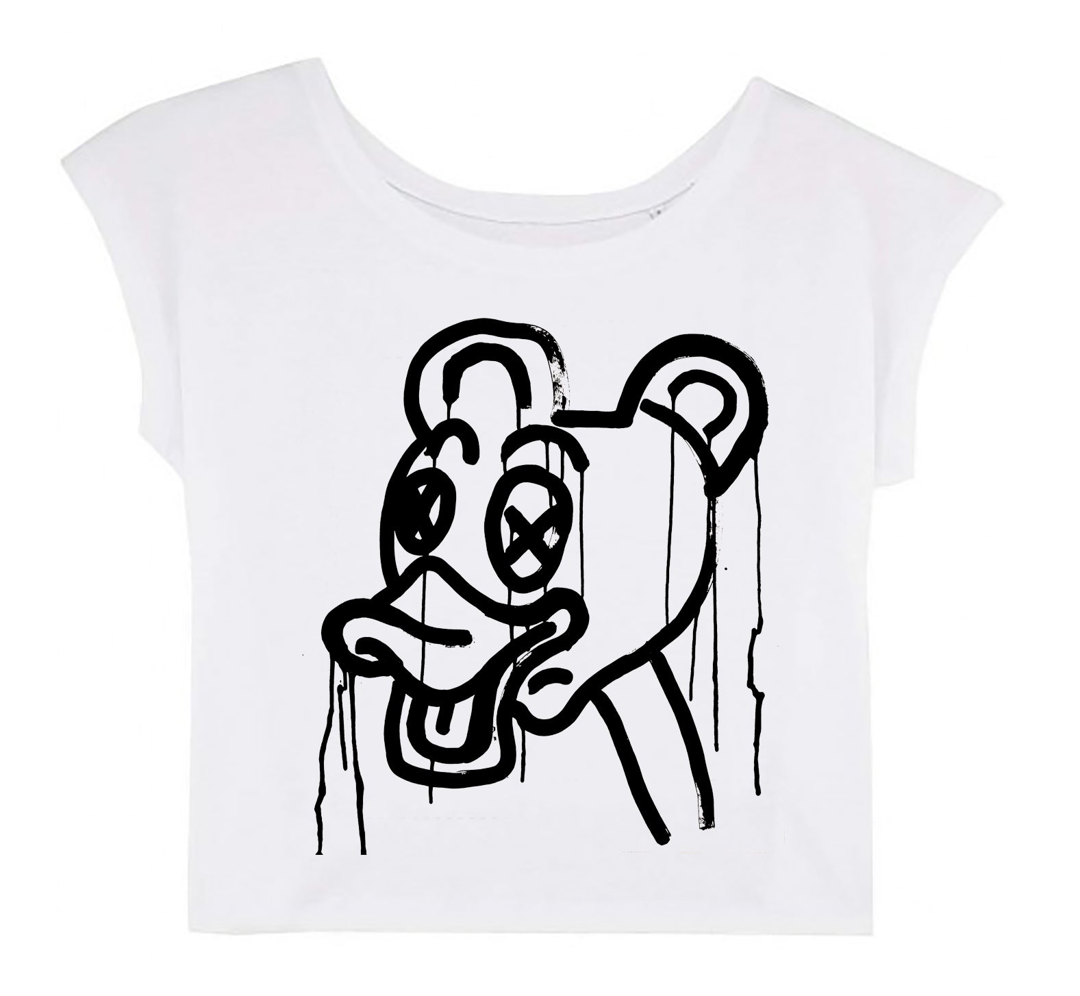 Women's Cropped T-shirt - Apocalypse According to Disney 2 │ Lea Rasovszky - Mobius Store