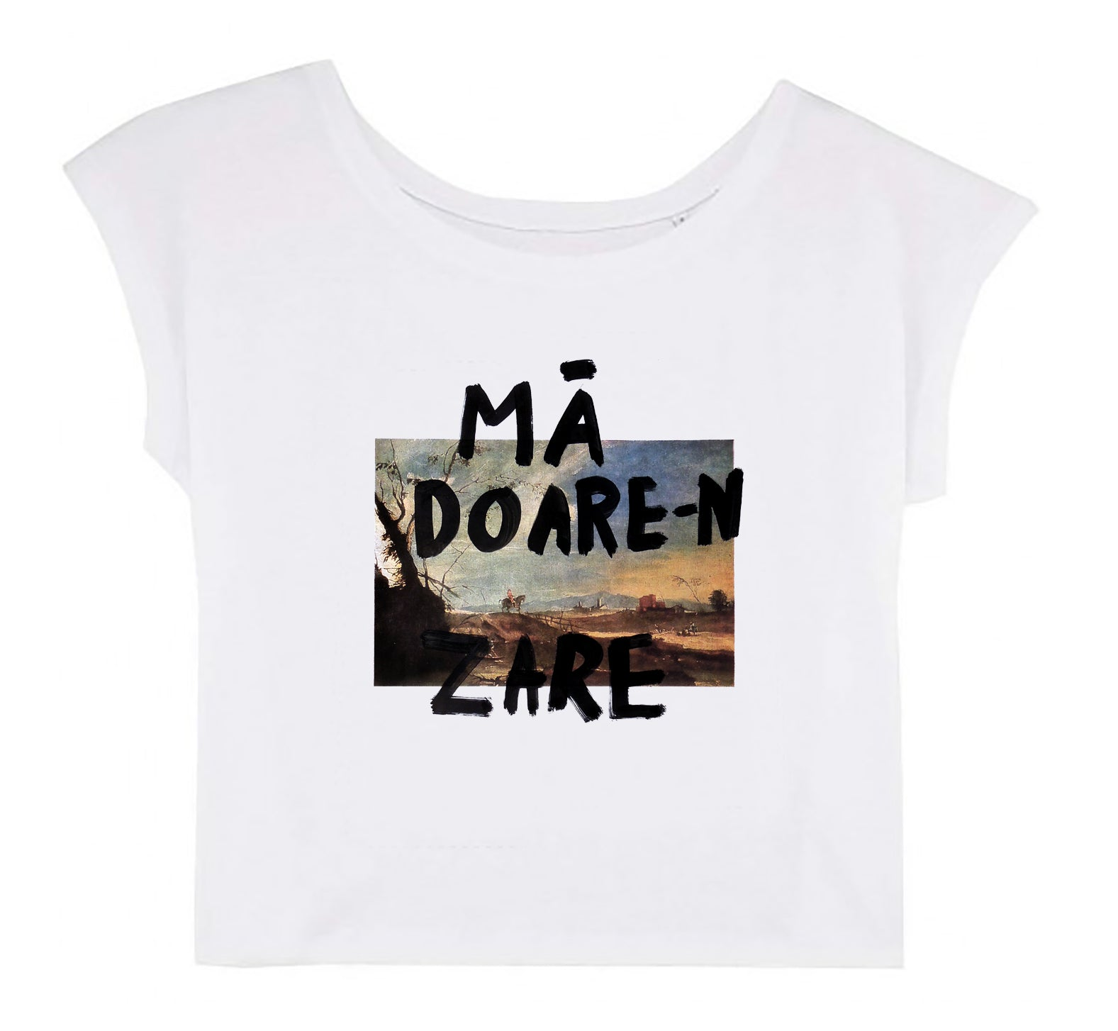 Women's Cropped T-shirt - Mă Doare-n Zare │ Lea Rasovszky - Mobius Store