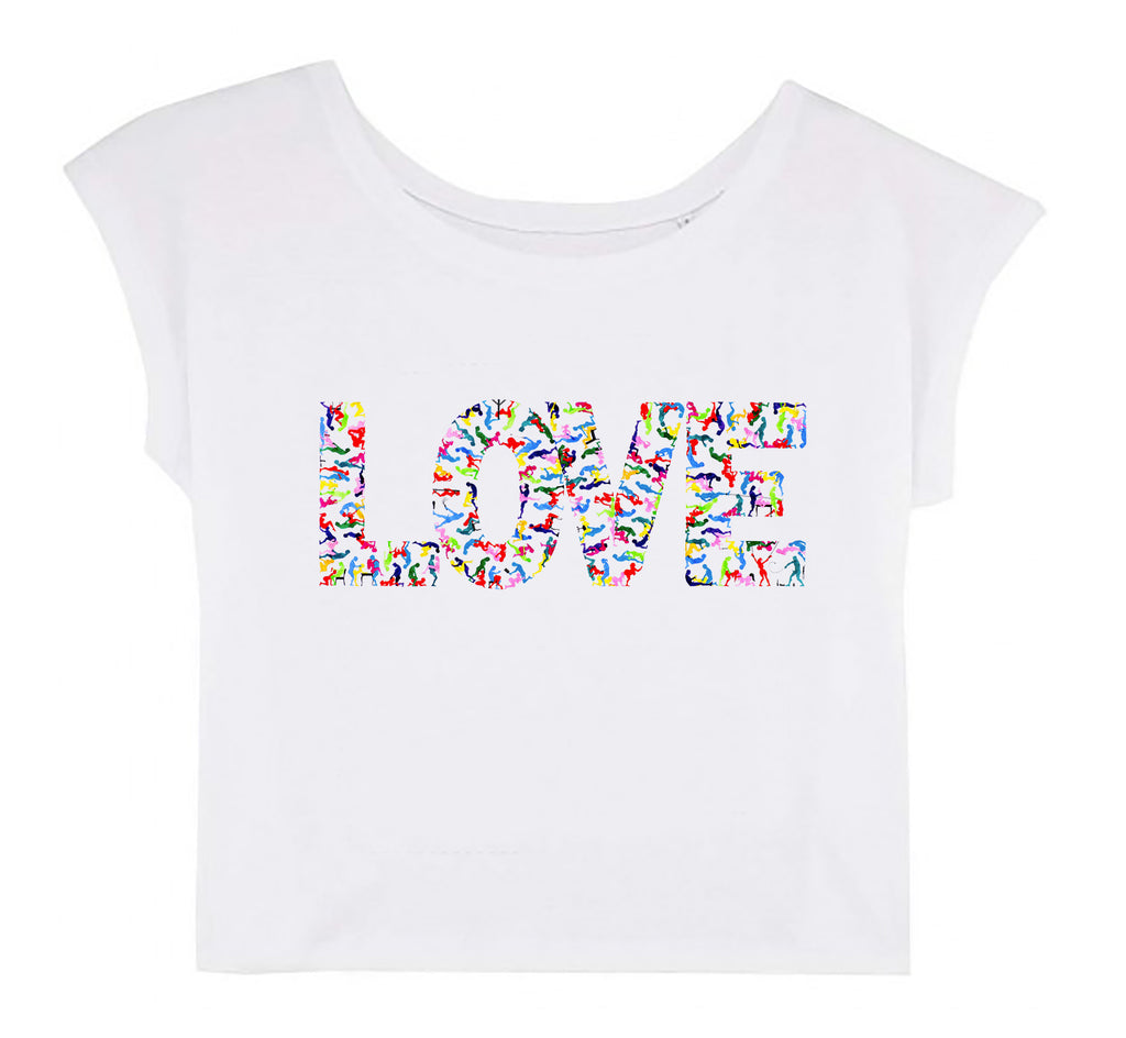Women's Cropped T-shirt - LOVE │ Roman Tolici - Mobius Store