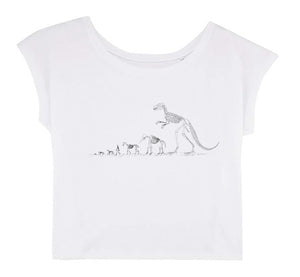 Women's Cropped T-shirt - New Hope │ Roman Tolici - Mobius Store