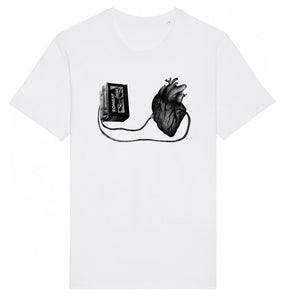 Unisex T-shirt - Left With a Broken Heart │ Sasha Bandi - Mobius Store