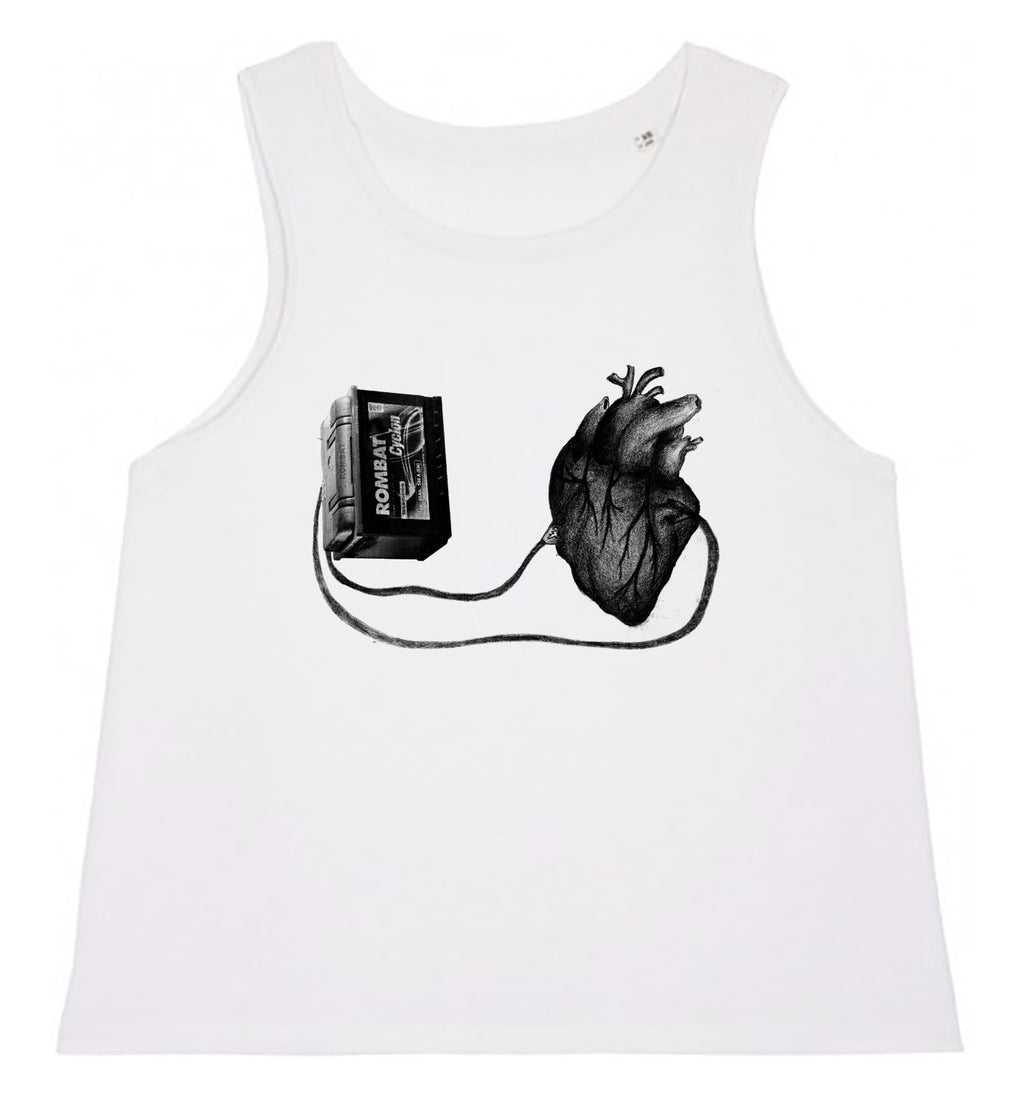 Women's Tank Top - Left With a Broken Heart │ Sasha Bandi - Mobius Store