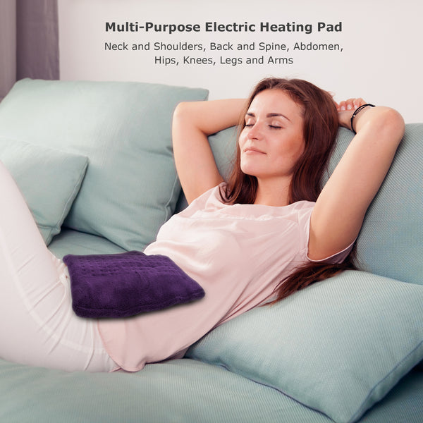 "Tizlo XL King-Size Micro-plush Heating Pad, 6 Heat Settings, Select Hour Auto-Off, Moist/Dry Heat, 12"" x 24"""