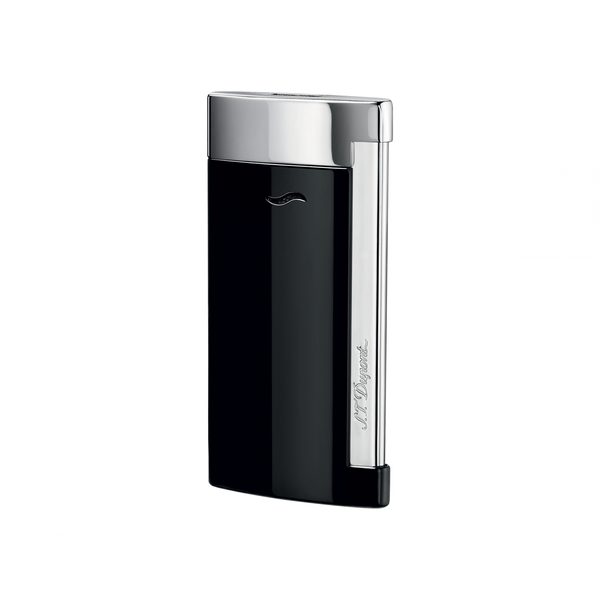 Slim 7, Black Lacquer, Lighters By Dupont
