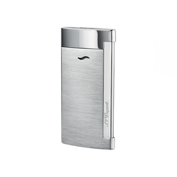 Slim 7, Brushed Chrome, Lighters By Dupont