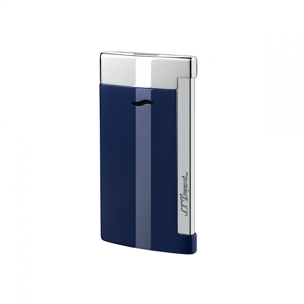 Slim 7, Blue and Chrome, Lighters By Dupont