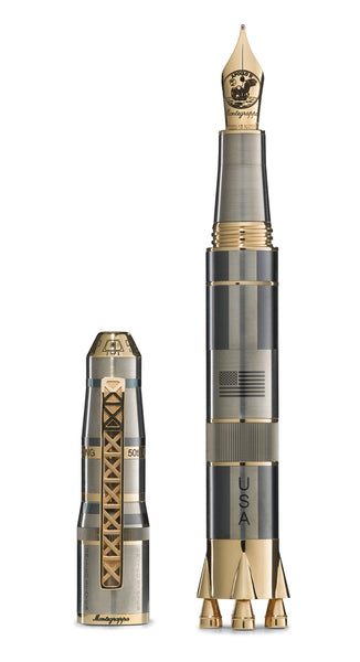 Moon Landing 50th Anniversary Titanium & Gold LIMITED (50) EDITION Fountain Pen Fine Nib Pre-Order