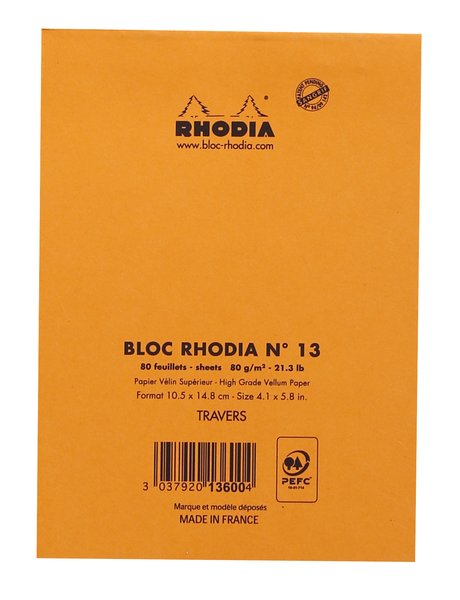 Rhodia Lined Pads (Orange Cover)
