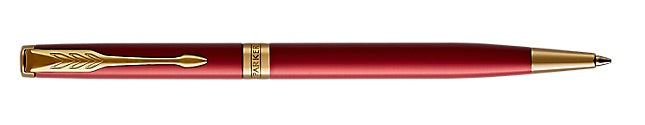 Parker Sonnet RED  Lacquer Gold Tone Ballpoint