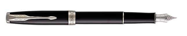 Parker Sonnet Matte Black Chrome Tone Fountain Pen Medium Nib