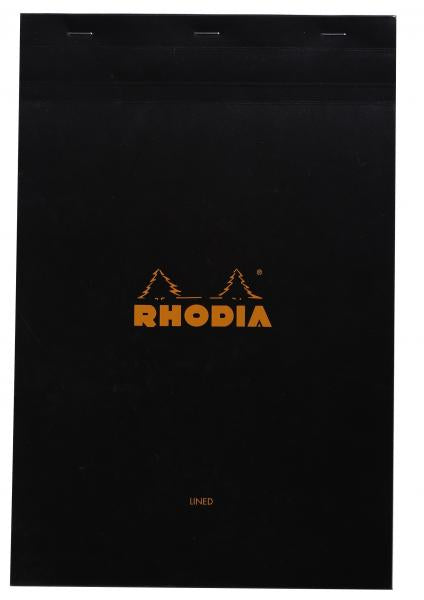 Rhodia Lined Pads (Black Cover)
