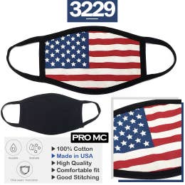 Face Masks Adult Flag (made in USA) non medical