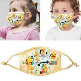Toddler Face Masks  Yellow Ducks (made in USA) non medical
