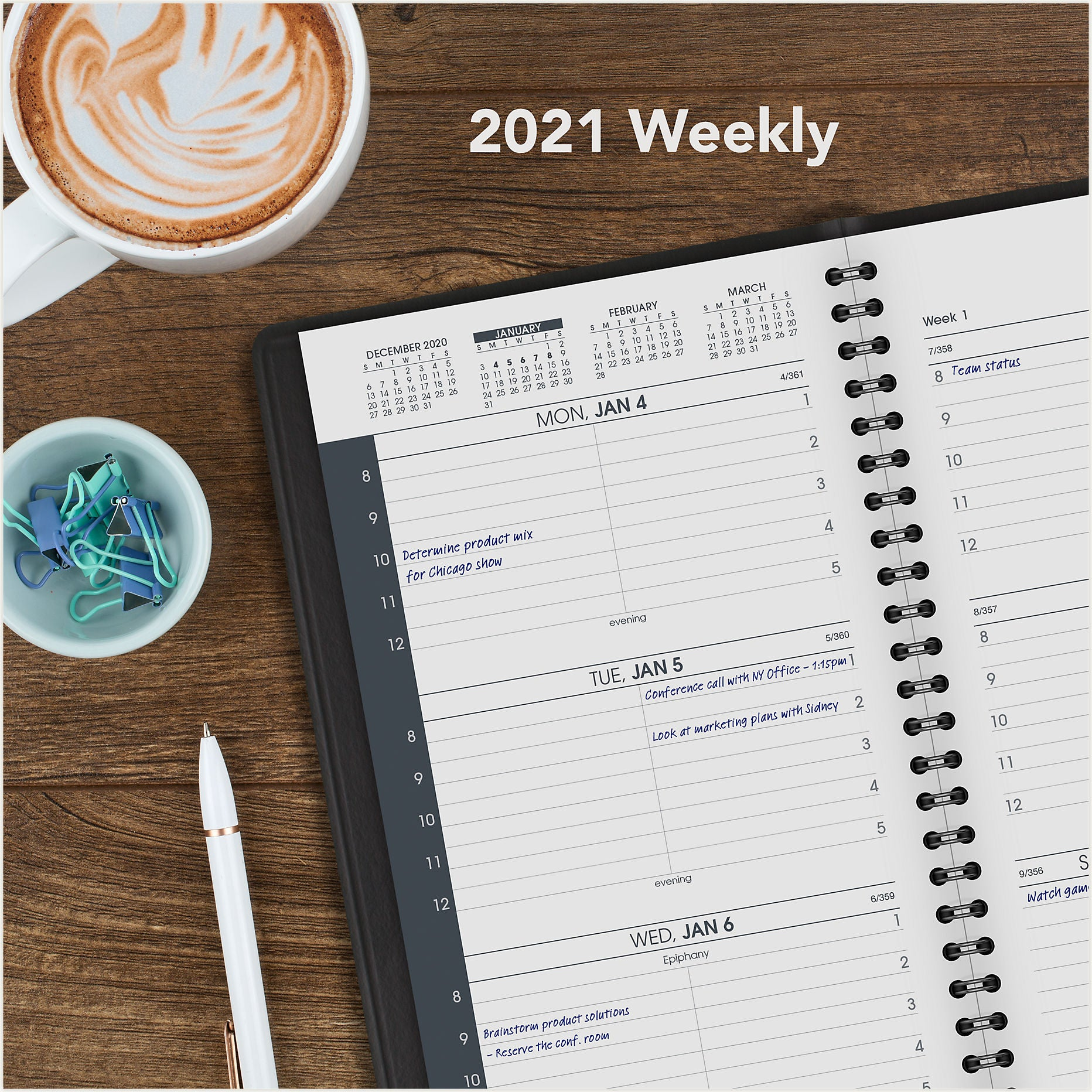 70-075-05 WEEKLY AT A GLANCE CALENDARS 2021