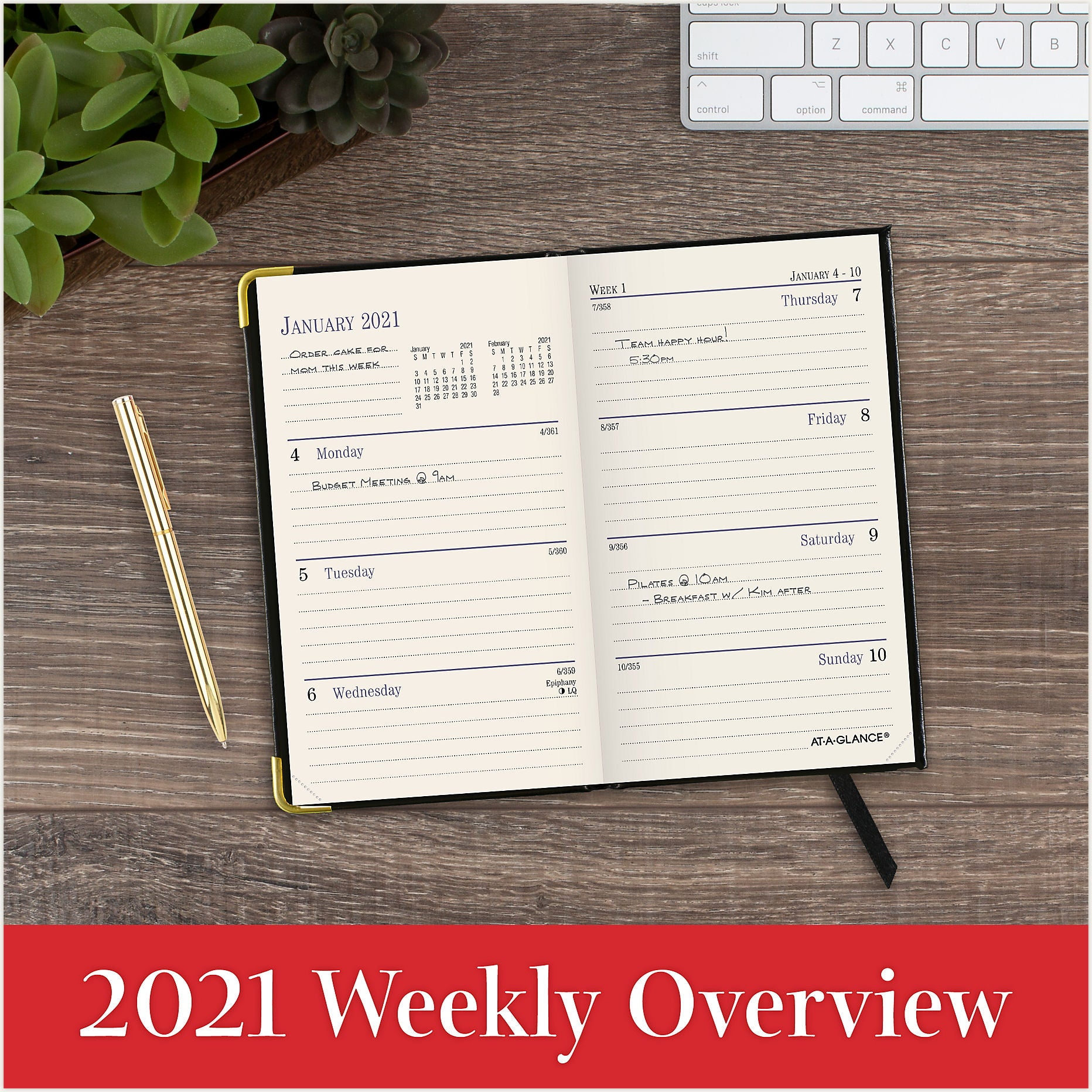 70-1111 WEEKLY/MONTHLY AT A GLANCE CALENDARS 2021
