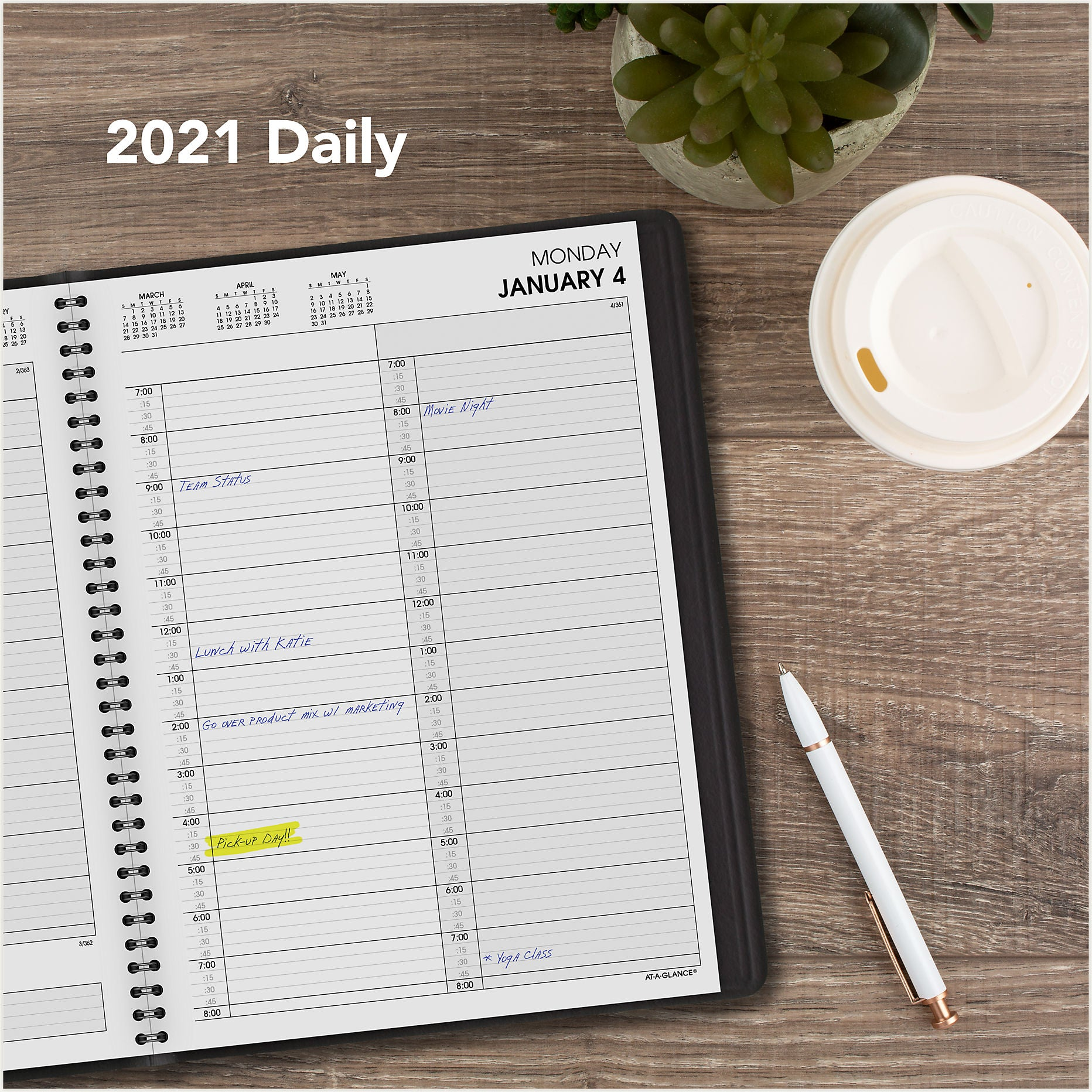 70-222-05  AT A GLANCE CALENDARS 2021